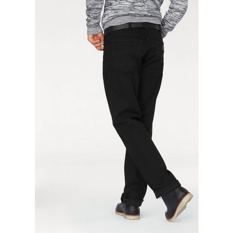 Wrangler TEXAS STRETCH Straight leg jeans Zwart