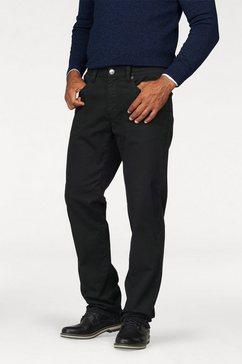man's world broek met elastische band stretch - comfortabel met elastiek opzij zwart