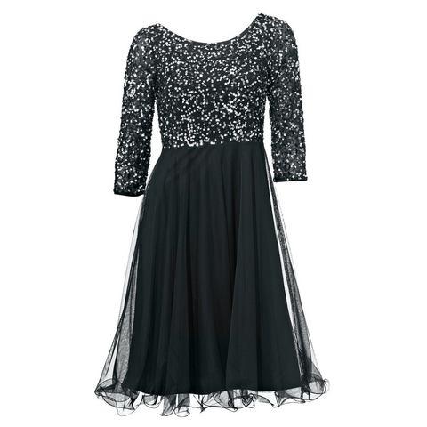 jurk met pailletten zwart