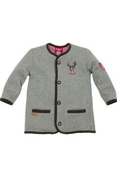 folklore-shirtvest voor kinderen, met print op de rug, bondi grijs