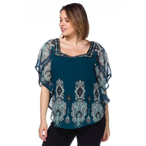 SHEEGO Blouse in vleermuismodel