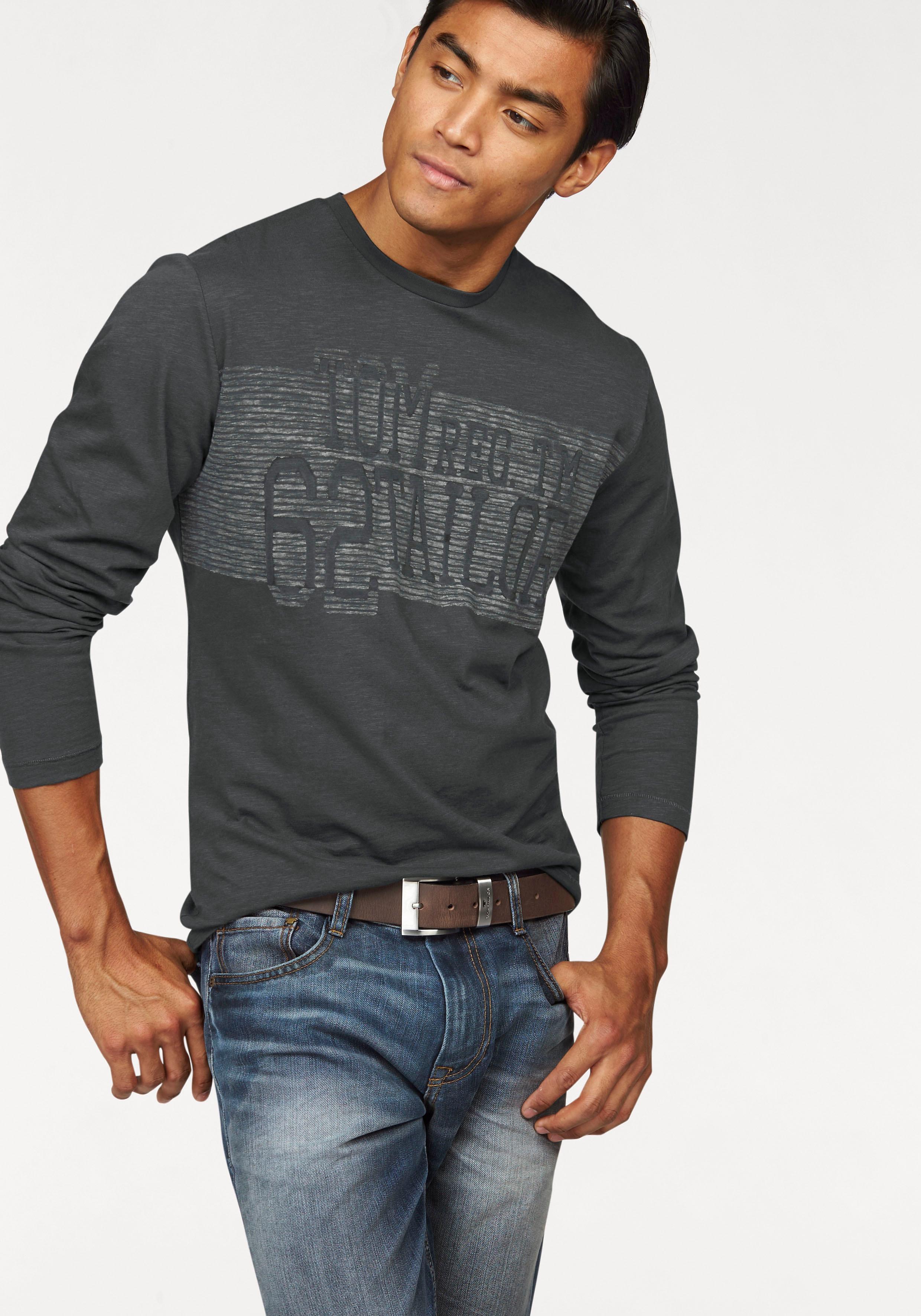 TOM TAILOR shirt met lange mouwen bij OTTO online kopen