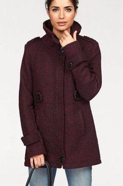 boysen's coat in tweed-look rood