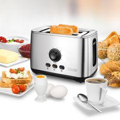 unold toaster 38955 met turbotoostfunctie zilver
