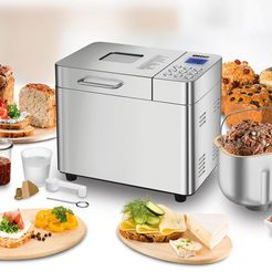 unold broodbakmachine backmeister edel 68456, 16 programma's, 550 watt zilver