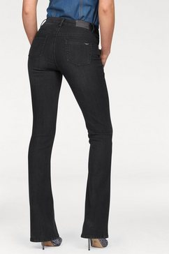 arizona high-waist-jeans bootcut zwart