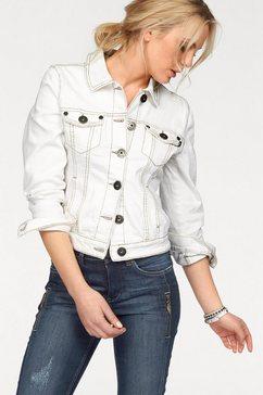 Jeans-jack met contrastnaden