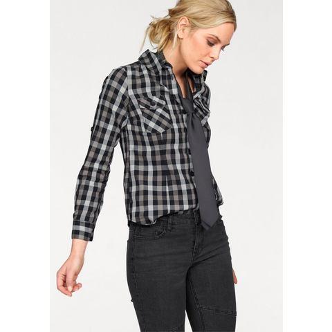 ARIZONA Geruite blouse met borstzakken