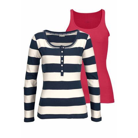 KANGAROOS shirt met lange mouwen (2-delig, met top)