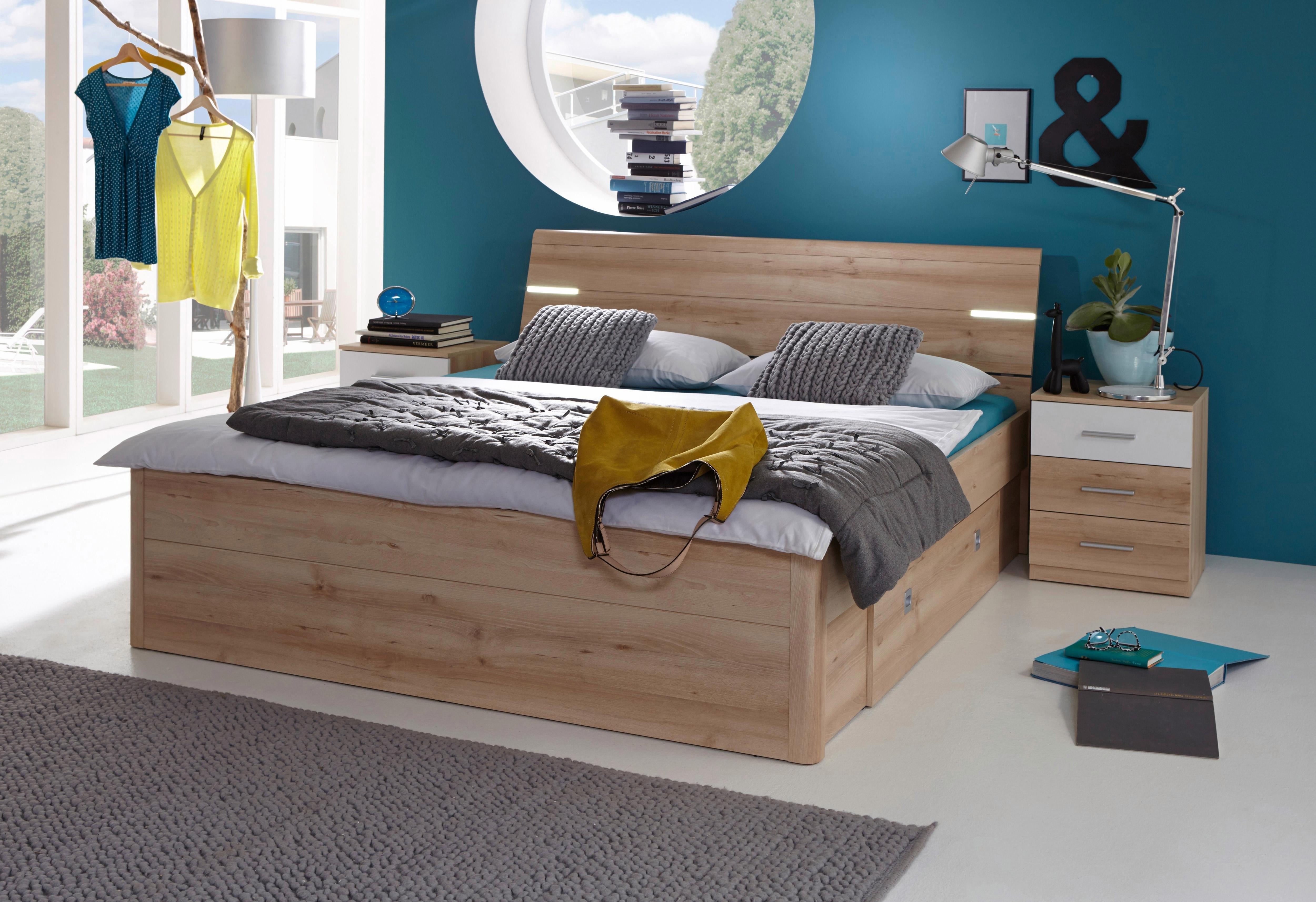 Bed met bergruimte incl. 2 nachtkastjes - gratis ruilen op otto.nl