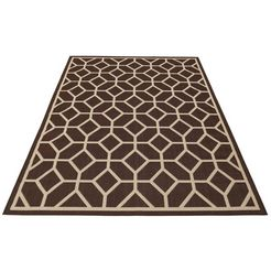 vloerkleed, my home, »makota«, geschikt voor binnen en buiten, geweven bruin