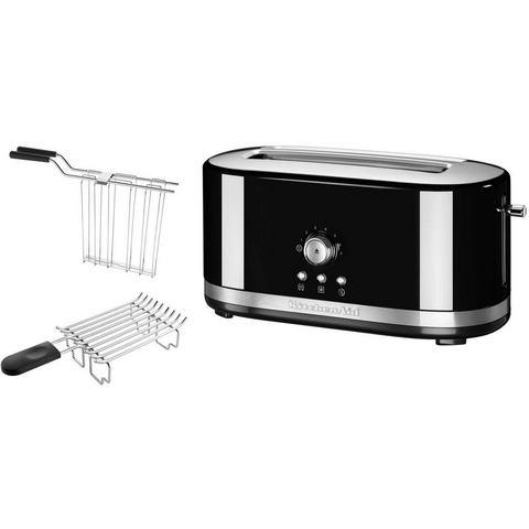 KITCHENAID® handmatige toaster met lange gleuven 5KMT4116EOB, onxy zwart