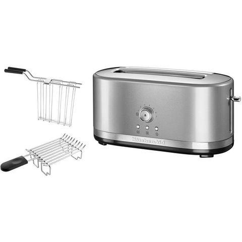 KITCHENAID® handmatige toaster met lange gleuven 5KMT4116ECU, contur-zilverkleur