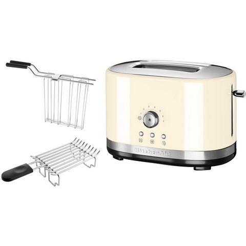 KITCHENAID® handmatige toaster voor 2 sneetjes brood 5KMT2116EAC, crème
