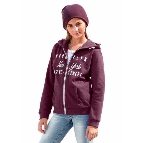 NU 15% KORTING: BUFFALO Sweat-vest met frontprint voor meisjes