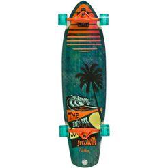 volten longboard, groen-oranje, »paneo cruiser« groen