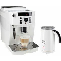 delonghi volautomatisch koffiezetapparaat ecam 21.118.w, met melkopschuimer, wit wit