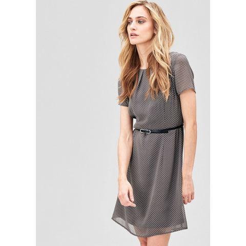 Picture s.Oliver Premium Zwierige jurk met riem grijs 182641