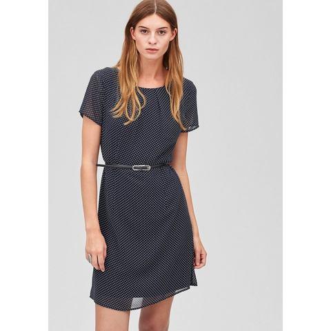 Picture s.Oliver Premium Zwierige jurk met riem blauw 170350