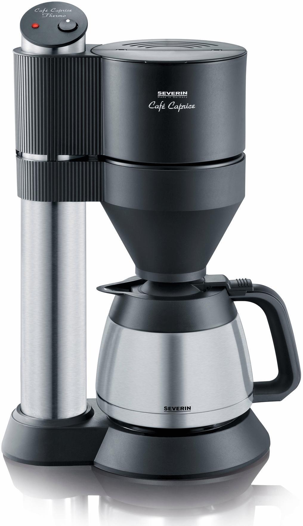 Severin Koffiezetapparaat KA 5743, met thermoskan, edelstaal/zwart goedkoop op otto.nl kopen