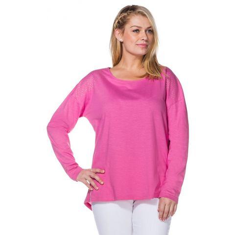 SHEEGO CASUAL shirt met lange mouwen van puur katoen