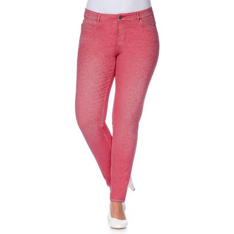 NU 20% KORTING: SHEEGO STYLE Jacquard-broek in smal model