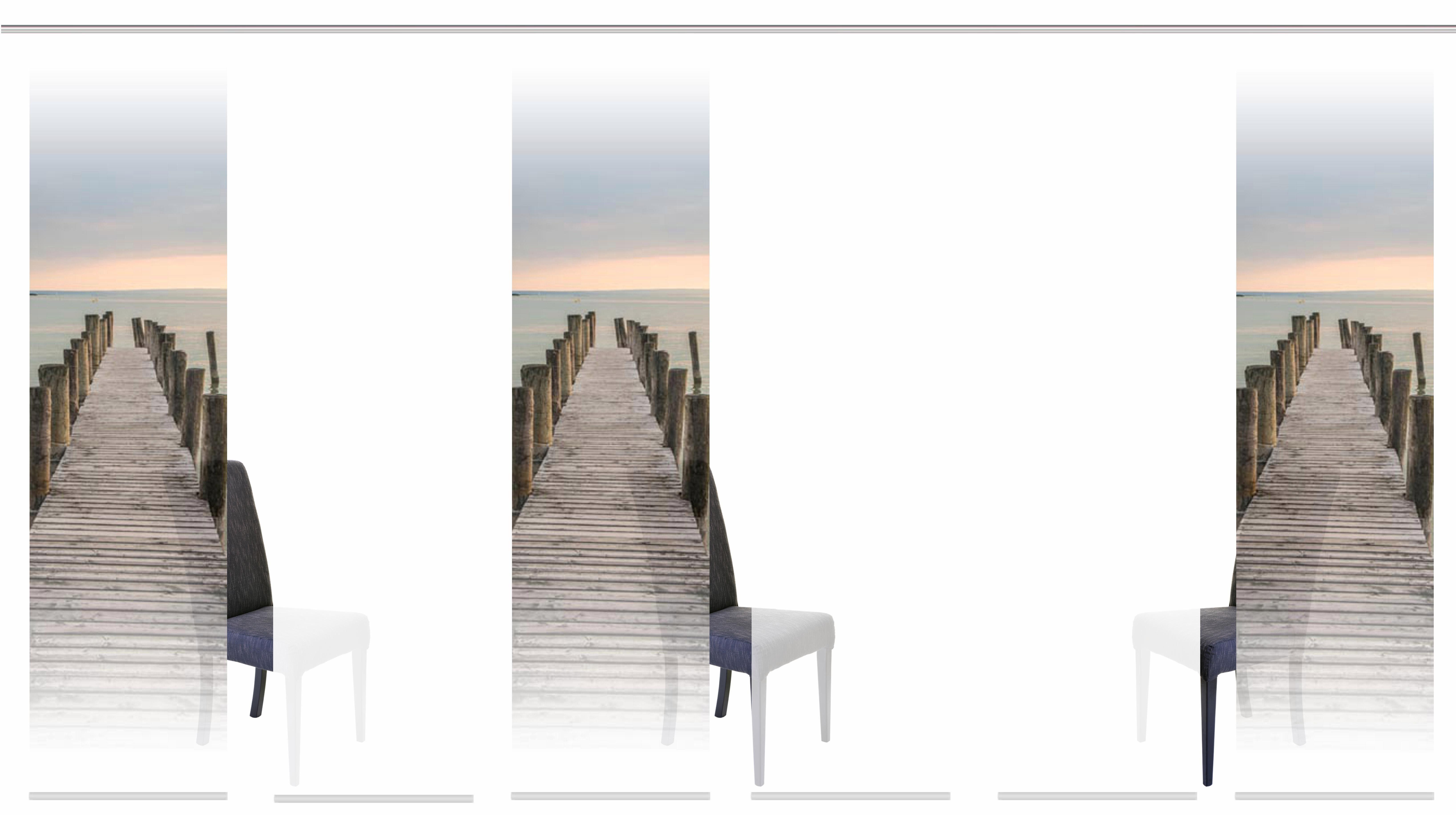 Paneel Gordijn 6 : Paneelgordijn tempe« home wohnideen klittenband set van