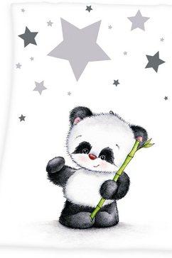 baby best babydeken fynn panda met pandamotief wit