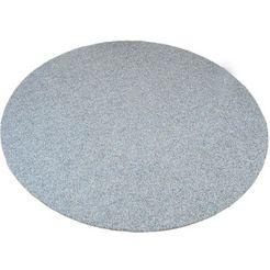 vloerkleed, rond, living line, »kunstgras premium«, geschikt voor binnen en buiten, getuft grijs