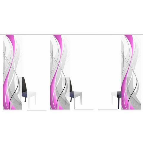Paneelgordijn, HOME WOHNIDEEN, »WUXi«, set van meerdere gordijnen (met accessoires)