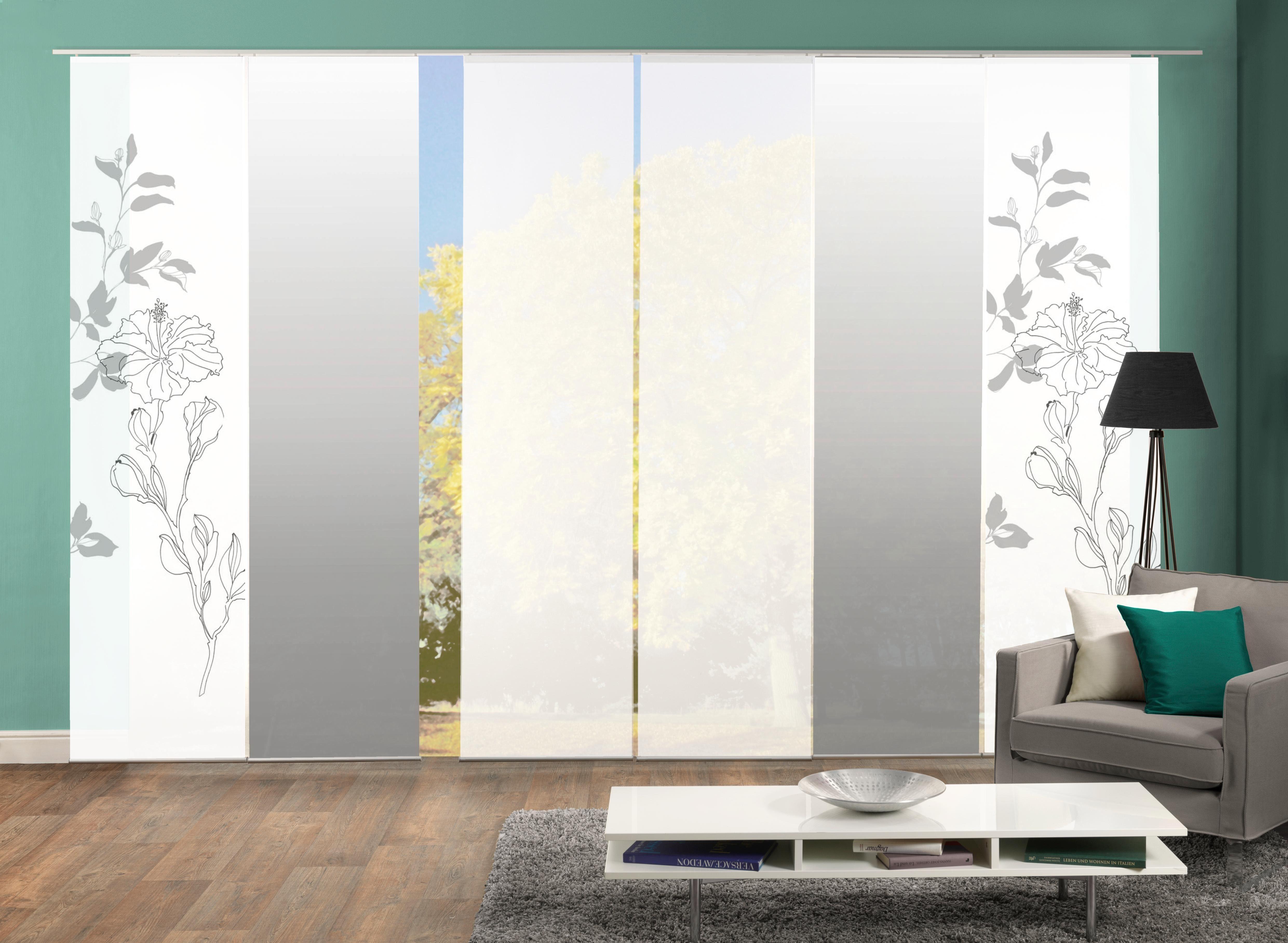Paneel Gordijn 6 : Paneelgordijn denver« home wohnideen klittenband set van