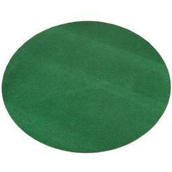 vloerkleed, rond, living line, »kunstgras«, geschikt voor binnen en buiten, getuft groen