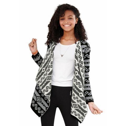 NU 20% KORTING: BUFFALO vest met ingebreid motief, voor meisjes