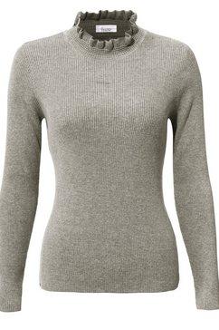 trui met staande kraag grijs