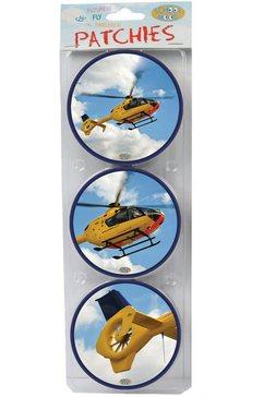 school mood accessoire voor schooltas, »patchy helikopter« blauw