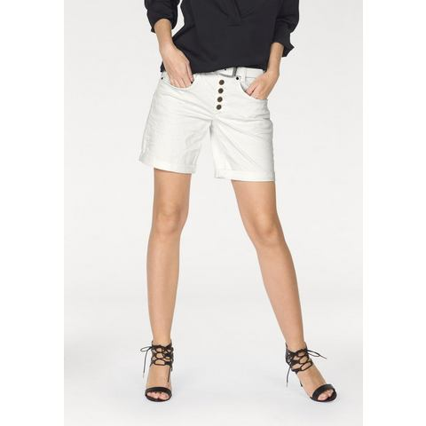 LAURA SCOTT Bermuda in krinkel-look