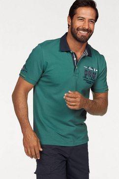 man's world poloshirt in piquékwaliteit met contrasterende kraag groen