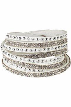 j. jayz armband met drukknoopsluiting wit