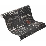 papierbehang, rasch, »cafe« zwart