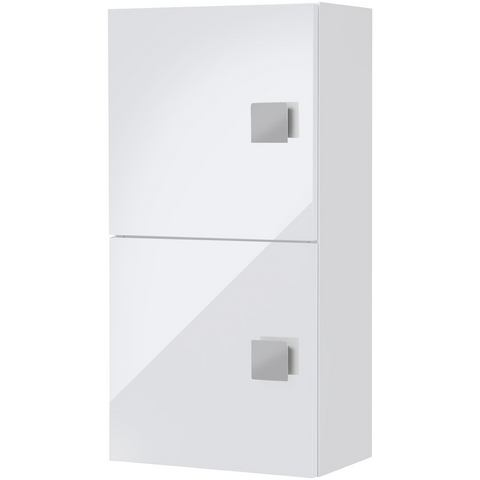 Hangkast Genf glanzend wit-wit 2-deurs, Giessbach