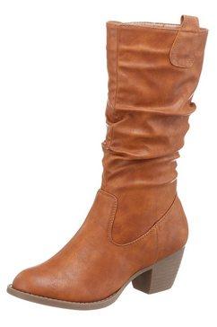 city walk laarzen met gerimpelde schacht bruin
