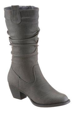 city walk laarzen met gerimpelde schacht grijs