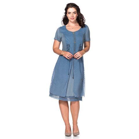 Picture JOE BROWNS jurk in een mix van materialen blauw 500575