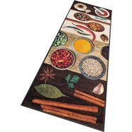 wash+dry by kleen-tex keukenloper hot spices geschikt voor binnen en buiten, wasbaar bruin