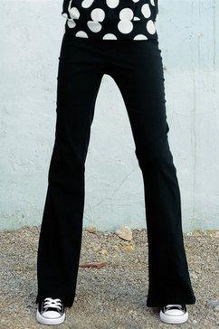 ajc bootcut-stretchbroek zwart