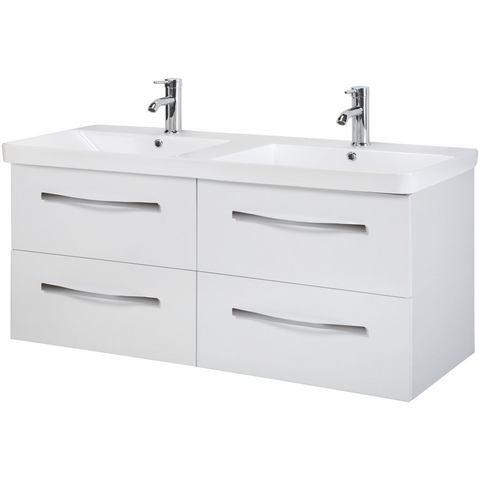 SCHILDMEYER Wastafel »Merle« witte badkamer onderkast 200