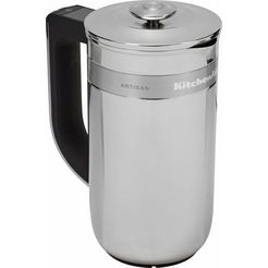 kitchenaid cafetière-koffiekan artisan 5kcm0512ess, met ingebouwde weegschaal en timer zilver