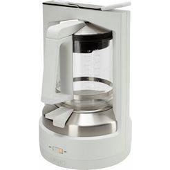 krups koffiezetapparaat met druksysteem km4682 t 8.2, wit-edelstaal wit
