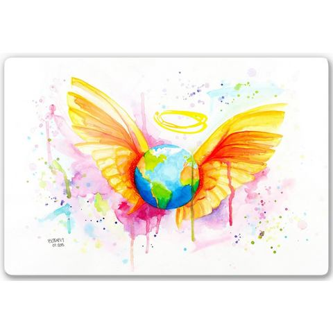 Home affaire print op glas Buttafly Angel