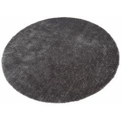 hoogpolig vloerkleed, rond, bruno banani, »dana«, hoogte 30 mm, handgetuft grijs